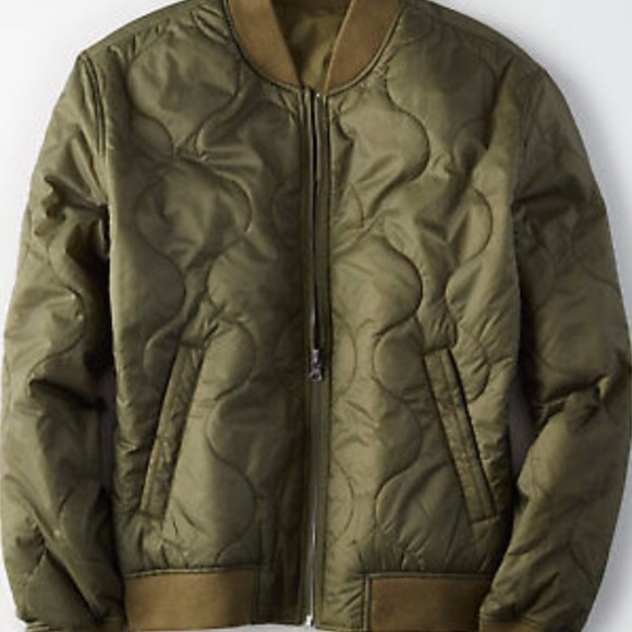 a7643ead968 American Eagle Ae Mens Hood Puffer Bomber Quilted Winter Jacket Coat